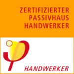 Logo van gecertificeerd passiefhuis handwerker (vakman)